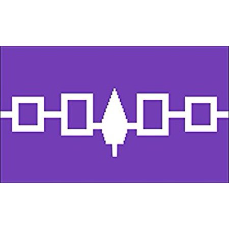 Iroquois Tribe Flag Sticker Decal decal native haudenosaunee Size 3 x