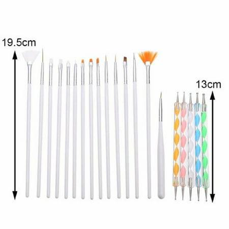 LUXUR 20Pcs Beauty Nail Art Design Set Dotting Painting Drawing Polish Brush Pen Tools](Cute Halloween Nail Designs)