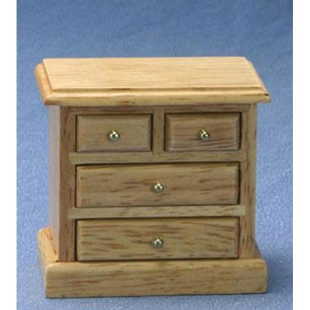 Oak Bed Side Table (Dollhouse Oak Bedside Table)