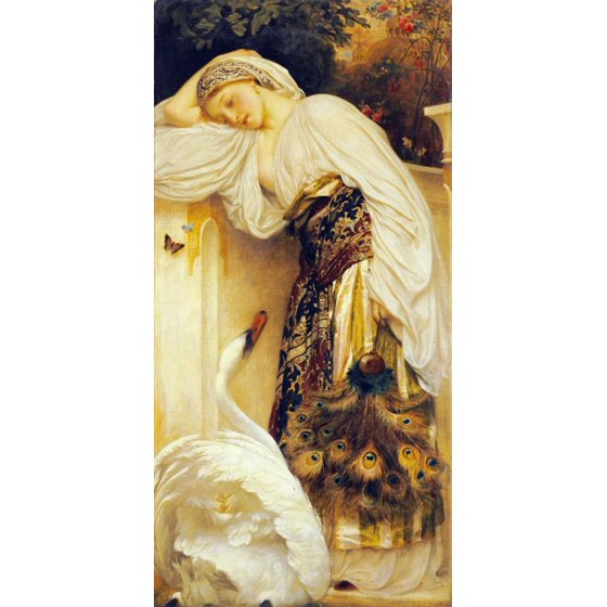 Lord Frederick Leighton Stretched Canvas Art - Odalisque - Large 24 ...