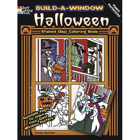 Build Window Stained Glass Coloring Book: Build-A-Window Stained Glass Coloring Book Halloween (Paperback)](Stained Glass Halloween)