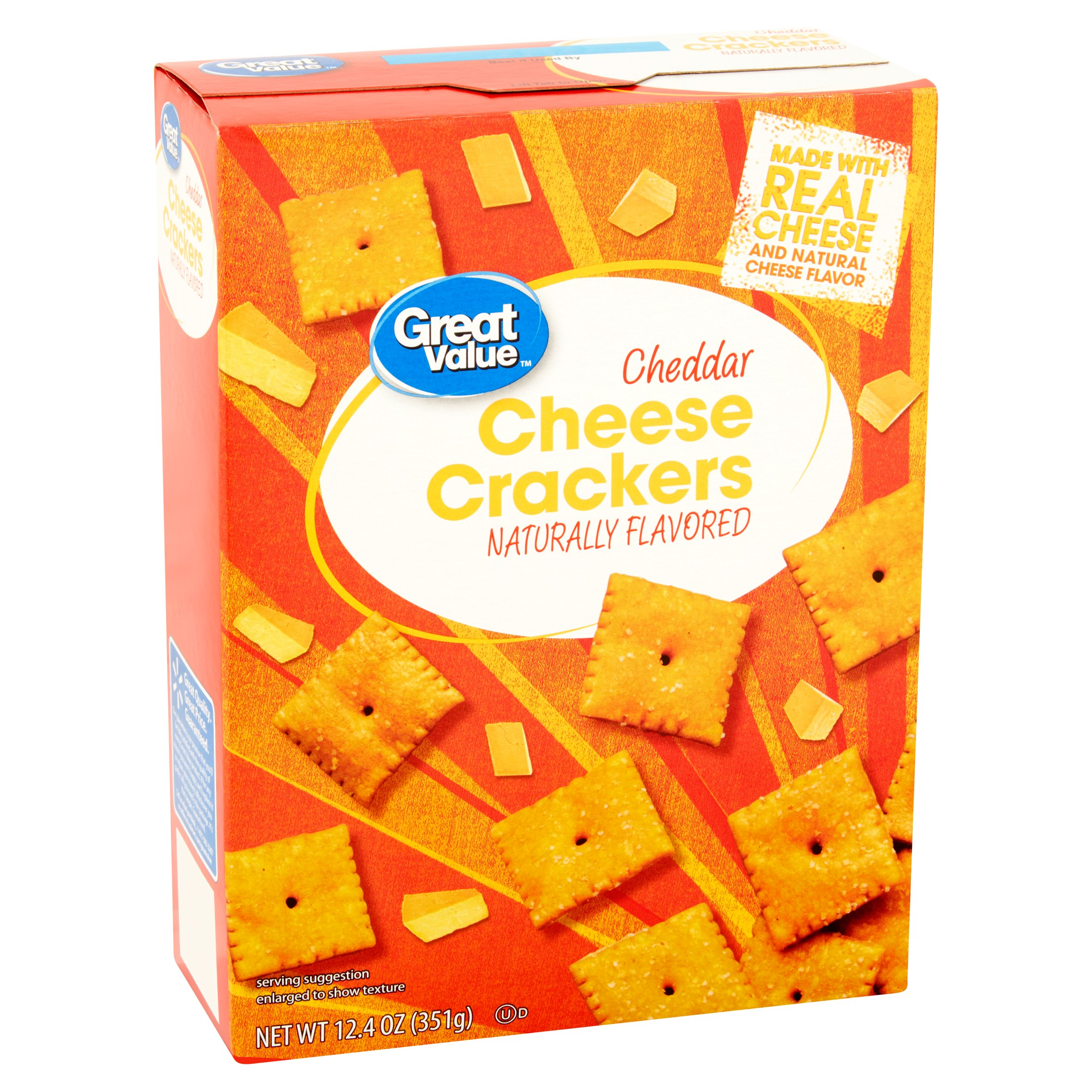 Great Value Cheddar Cheese Crackers, 12.4 oz