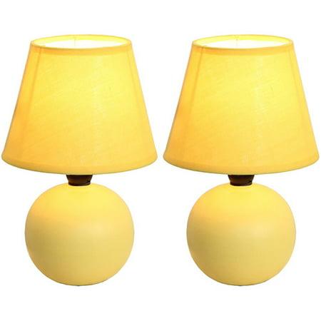 Simple designs mini ceramic globe table lamp 2 pack set for Design table lamp giffy 17 7