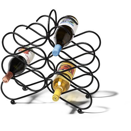 Scroll 12-Bottle Wine Rack Black