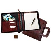 Raika VI 181 BROWN 8in. x 10in. Zipper PortfoLio Binder with Insert - Brown