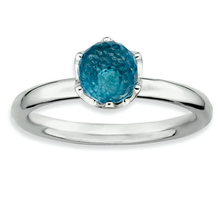 Sterling Silver Stackable Expressions Blue Topaz Briolette Ring Size 6 - image 3 of 3