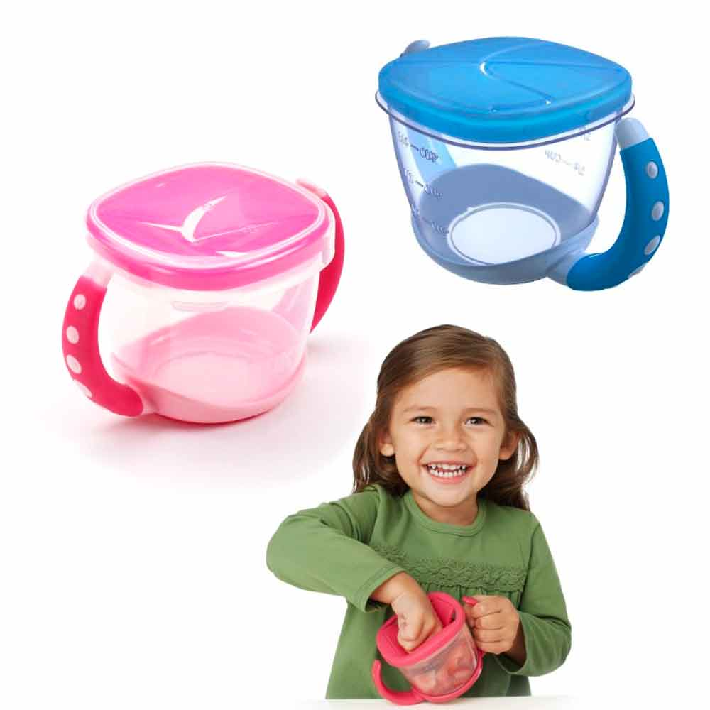 1 Gerber Active Snacker Baby Toddler No Spill Snack Bowl Cup Container BPA Free