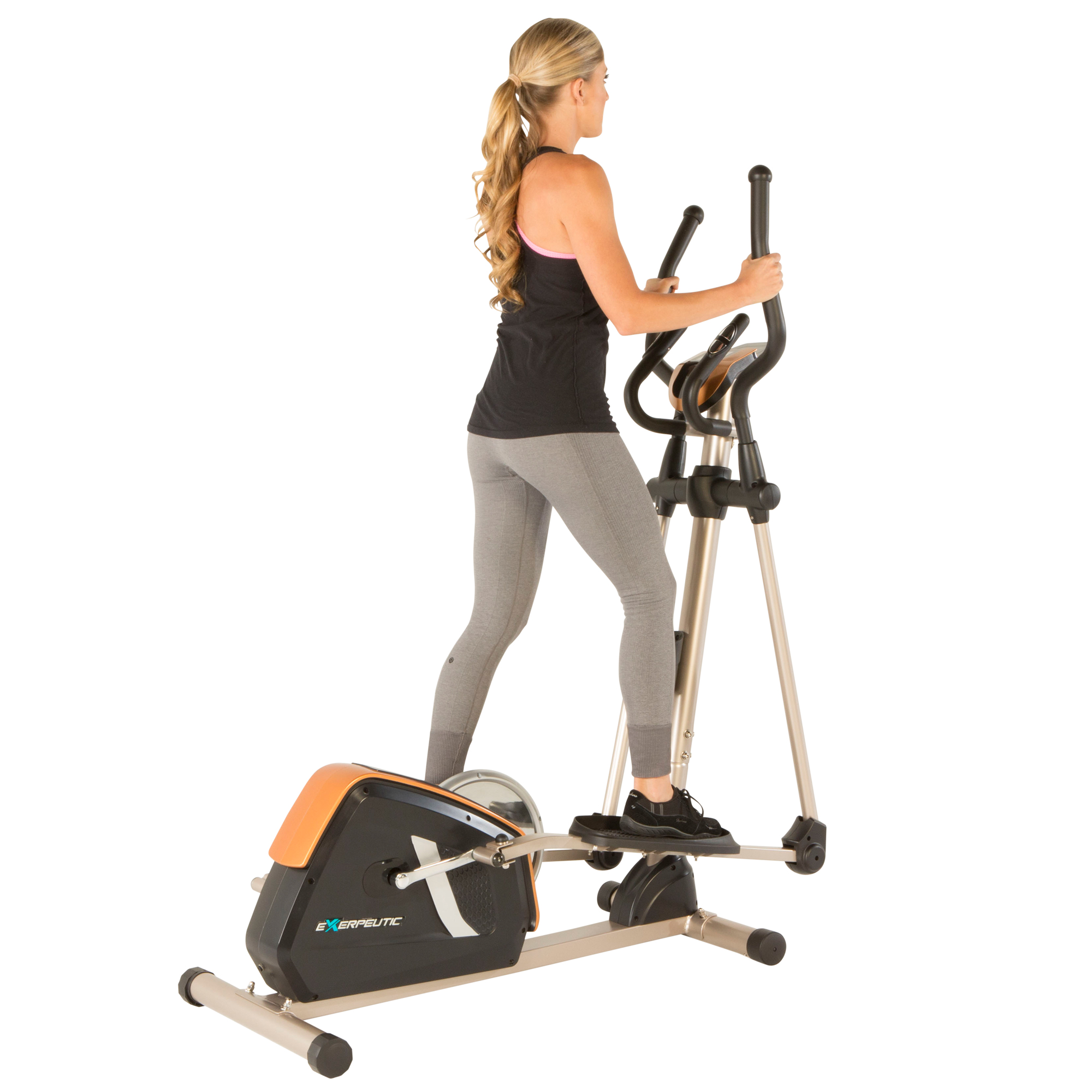 Exerpeutic GOLD 2000XLST Bluetooth Smart Technology Elliptical Trainer with Fitness Tracking App by Exerpeutic