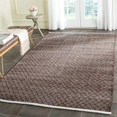 """Safavieh Boston 2'3"""" X 7' Hand Woven Cotton Pile Rug in Brown - image 1 of 7"""