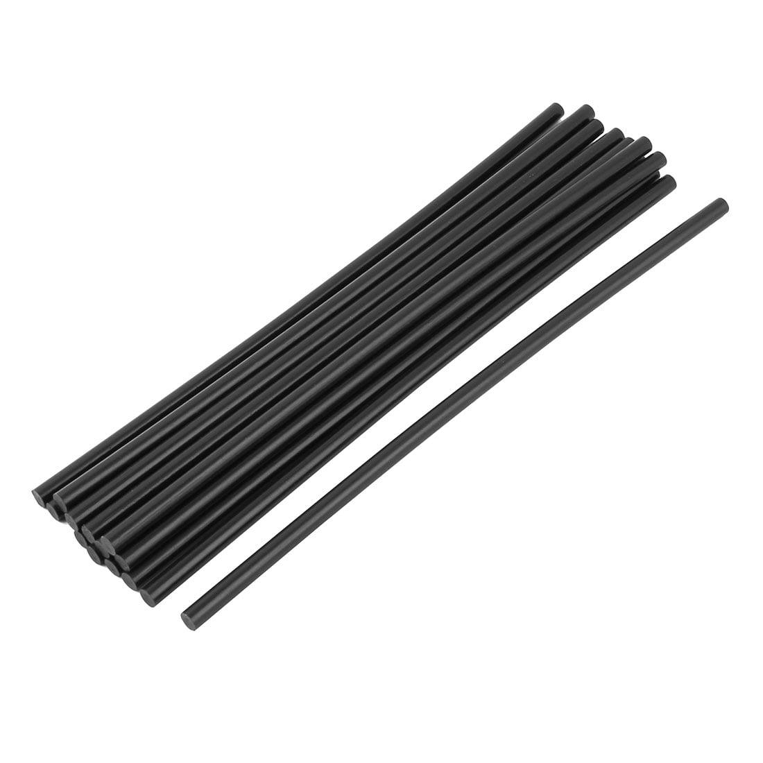 15pcs 7mm Diameter Black Craft Model Bonding Adhesive Stick Hot Melt Glue