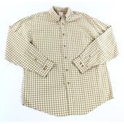 Brooks Brothers NEW Beige Mens Size Large L Check Plaid Button Down Shirt $69