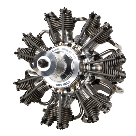 7 Cyl 77cc 4 Stroke Glow Radial Engine
