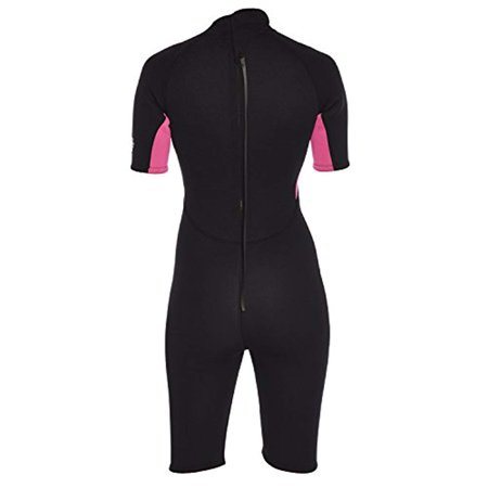 Ivation 3mm Short Wetsuit for Adult - Crafted of Premium Neoprene & Features High - Quality Zipper & Full UV Protection,Pink,Large - image 7 of 8