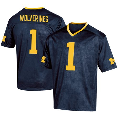 Michigan Wolverines Football Jersey (Men's Russell #1 Navy Michigan Wolverines Fashion Football)