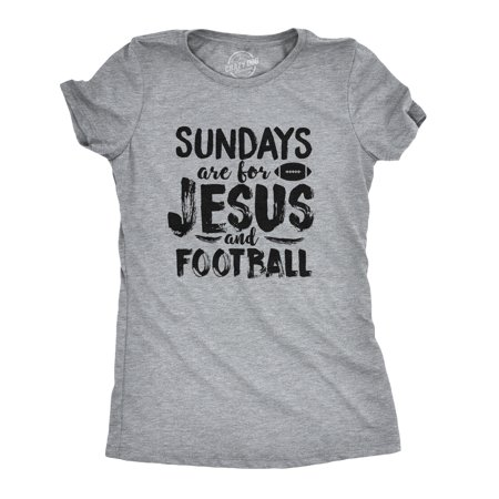 Womens Sundays Jesus and Football Funny Sports Athlete Religion T (Athlete Womens Tennis Shirt)