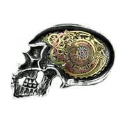 Alchemy Of England Men's Anima Machinato Futurus Belt Buckle Silver