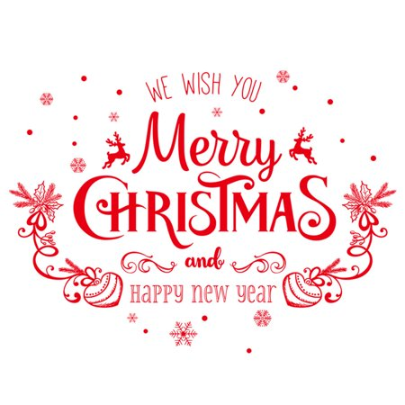 Merry Christmas Wall Art Removable Home Vinyl Window Wall Stickers Decal -