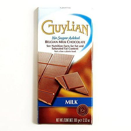 Guylian No Sugar Added Milk Chocolate Bar 3.53 oz each (3 Items Per Order)