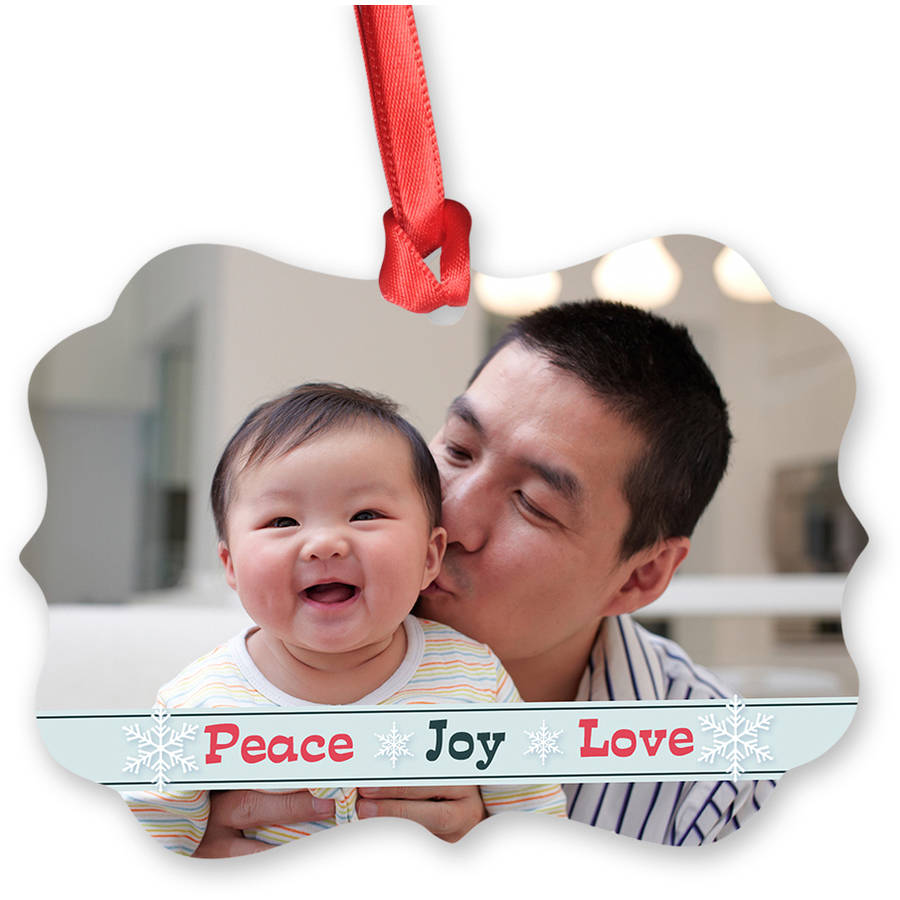 Scalloped Metal Christmas Ornament, Matte Finish (Front Side Only)