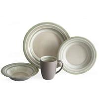 Color Stack 16-Piece Dinnerware Set (Latte)
