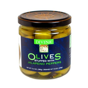 Divina Olives Stuffed with Jalapeno Peppers - 2 jars
