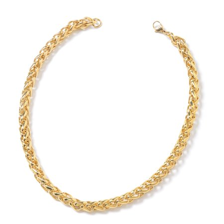 Gothic Gold Plated (Hypoallergenic Yellow Gold Plated Chain Necklace for Women Girls 20
