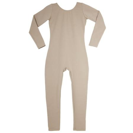 High Neck Unitard (Women's Long Sleeve Scoop Neck Nude)