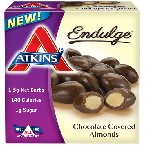 Atkins Endulge Chocolate Covered Almonds, 1.4 oz, 5 count