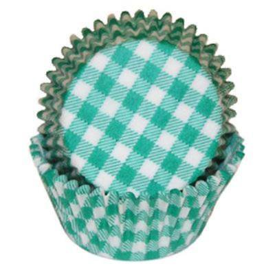 Green Gingham Baking Cupcake Liners - 50 Count - National Cake Supply (Green Gingham)