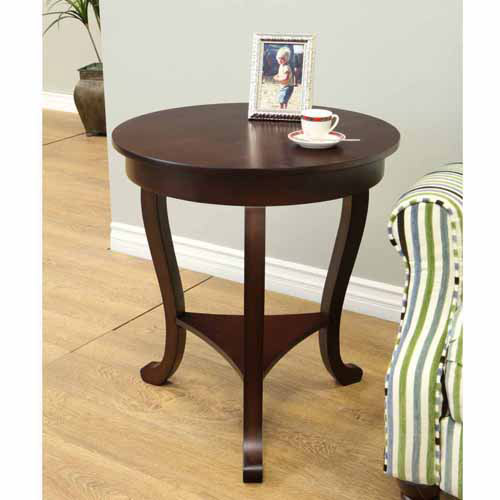 Home Craft Large Burl Accent Table by Mega Home