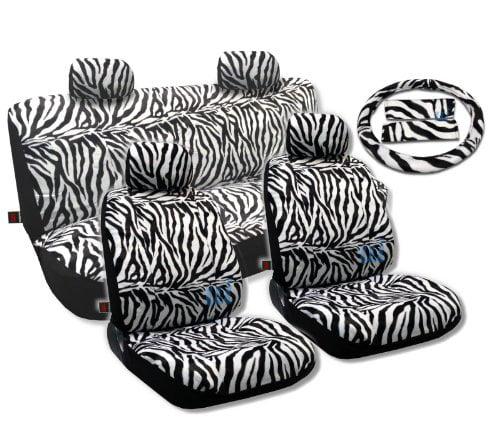 Animal Print Seat Covers Universal Sedan 13pc Front Pair Bench Steering Wheel For Hyundai Sonata