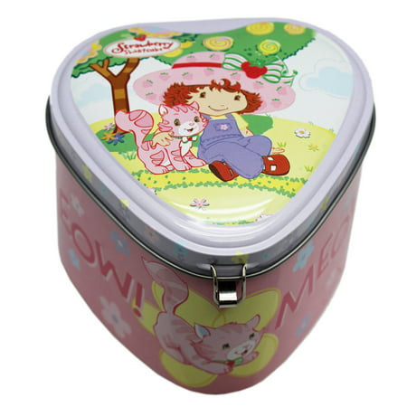 Strawberry Shortcake and Custard Heart Shaped Tin Storage Box