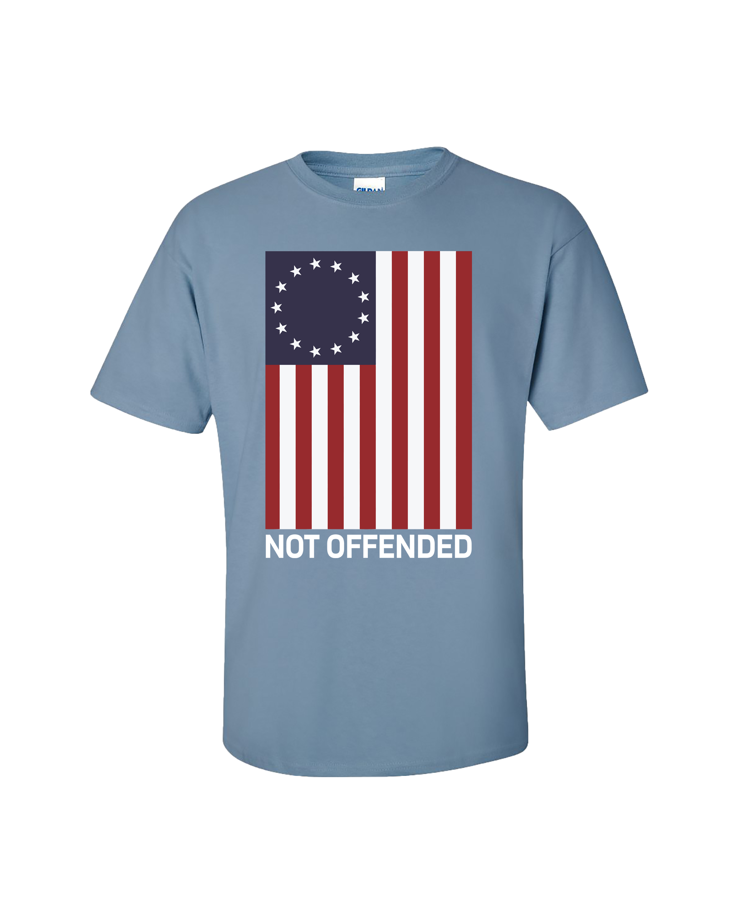 Does My Flag Offend You Patriotic T Shirt American Flag Shirt S to 6XL and Tall