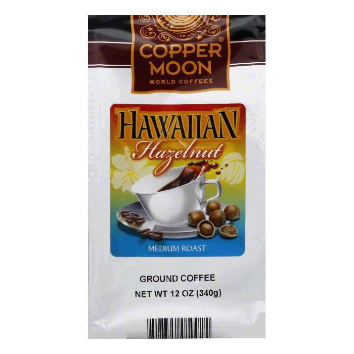 Copper Moon Medium Roast Hawaiian Hazelnut Ground Coffee, 12 Oz (Pack of 6)