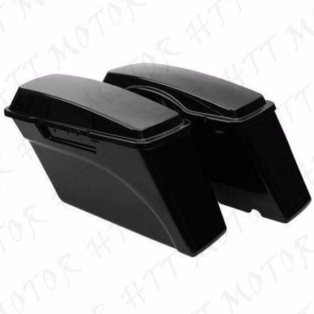 1Set Unpainted Hard Saddle bags Saddlebags For Harley Road King Glide 1994-2013 - Motorcycle Hard Saddlebags