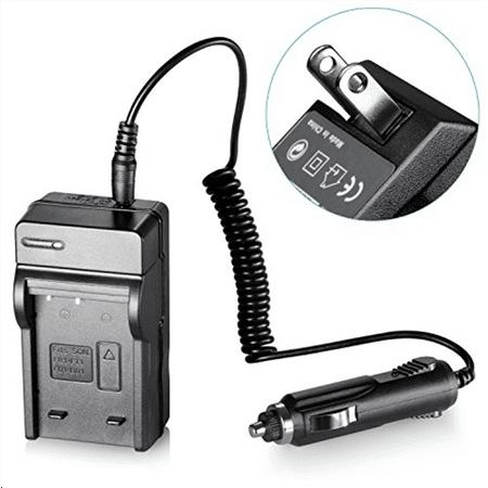 Neewer Camera Battery Charger (AC Wall Plug + Car Adapter) for Sony NP-FT1 / NP-FR1 / NP-BD1 / NP-FD1 Batteries Compatible with CyberShot DSC-M2 DSC-M1 DSC-G3 DSC-L1 DSC-L1B DSC-L1-LJ