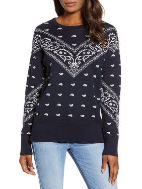 Lucky Brand | Bandana Print Sweater | Blue