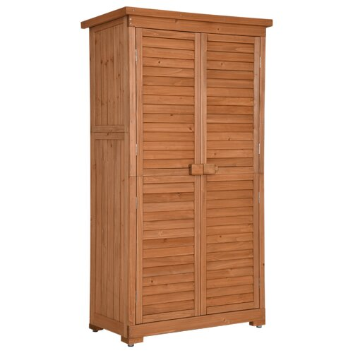 MCombo Tall Garden 3 ft. W x 2 ft. D Solid Wood Lean-to Tool Shed