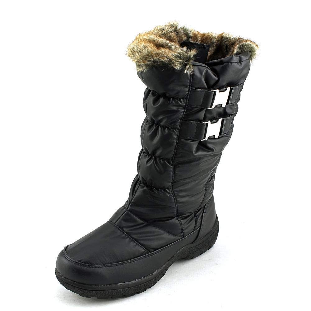 Weatherproof Becky Women  Round Toe Canvas Black Winter Boot