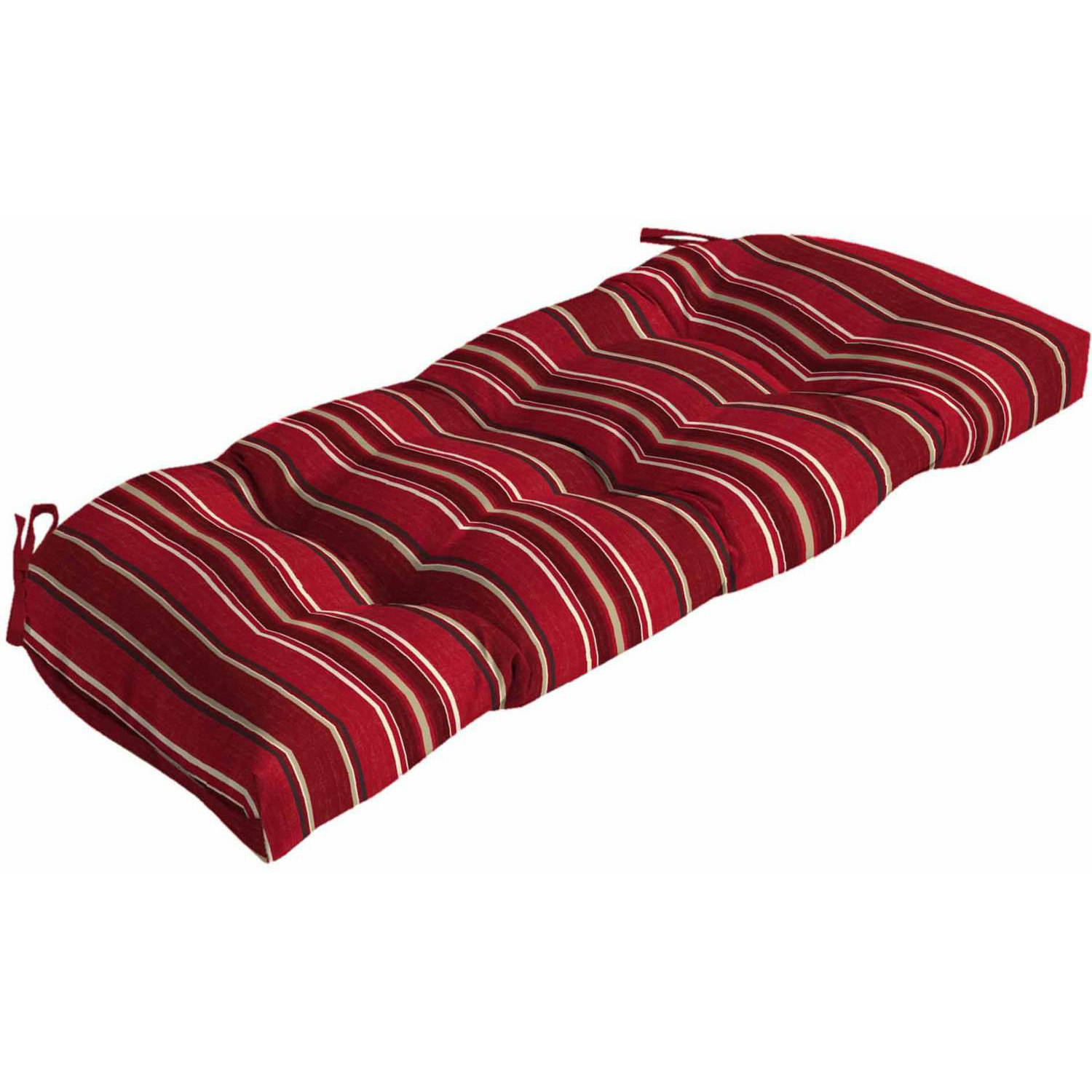 Better Homes and Gardens Outdoor Patio Wicker Settee Cushion, Multiple Patterns