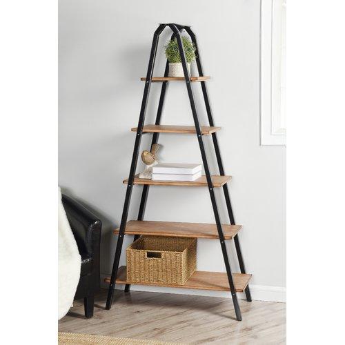 Gracie Oaks Wesley Ladder Bookcase