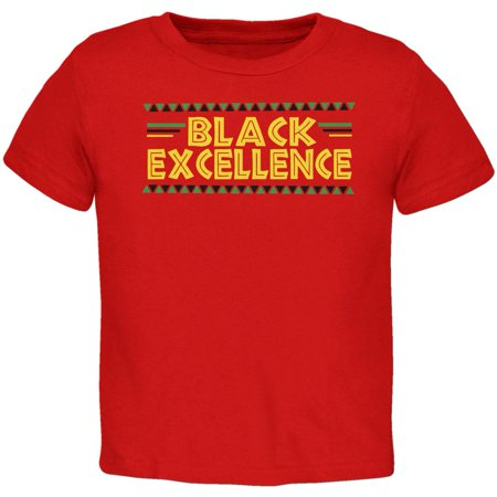 - Black History Month Excellence Pan African Colors Toddler T Shirt
