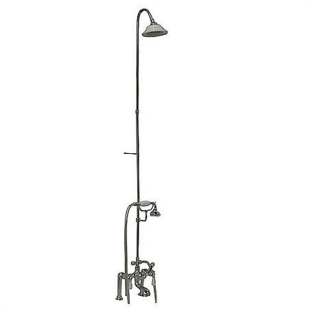 Barclay Leg Tub Diverter Faucet with Elephant Spout, -