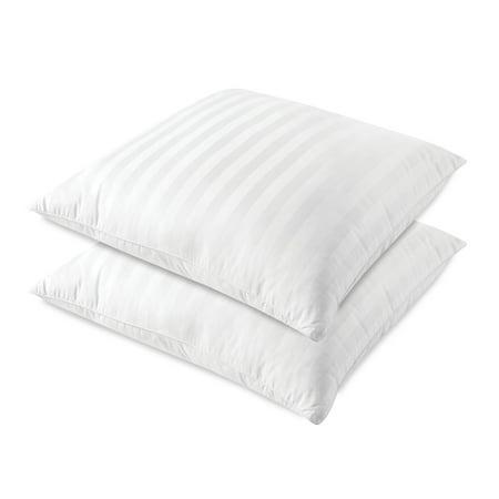 SensorPedic Sateen Euro Stripe Square Pillow - Set of 2 ()