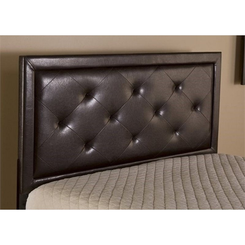 Atlin Designs Tufted King Panel Headboard in Brown