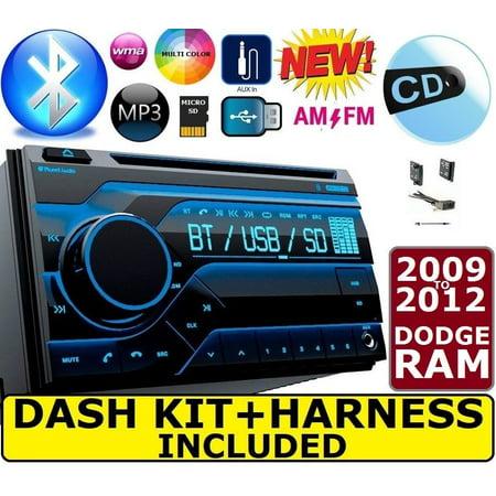 2009 - 2012 DODGE RAM BLUETOOTH CD USB Double Din CAR Radio Stereo Dash Kit (2012 Dodge Double Din Dash Kit)