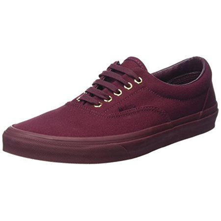 Vans Vn 03Z5jrr  Era Gold Mono Unisex Skate Shoes Burgundy   Gold Mono  Port Royale  13 5 B M  Us Women   12 D M  Us Men