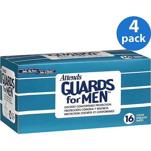(4 Pack) MG0400 Attends® Guards for Men, 16 Count