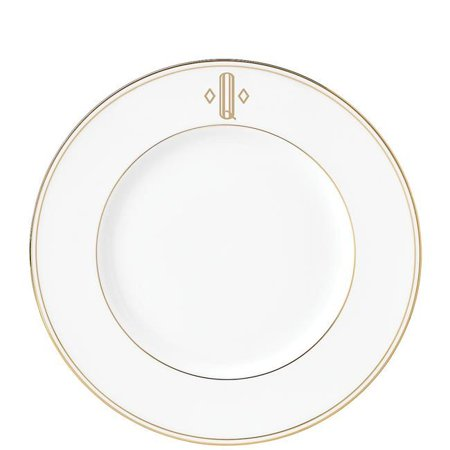 Lenox 870062 9 in. dia. Federal Gold Monogram Block DW Accent Plate - Q