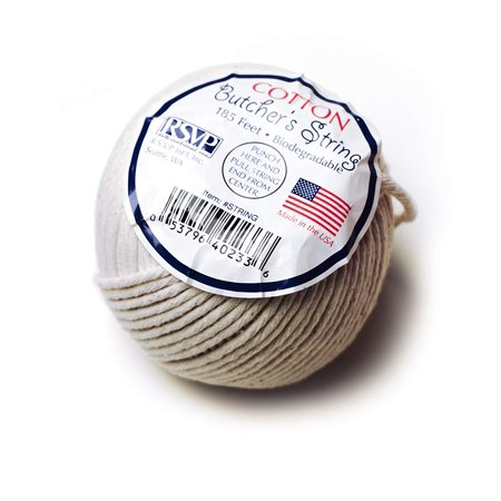 RSVP Cotton Food Safe Butcher's String, 185-feet, Made in USATruss a turkey, tie up chicken breast or meat roll-ups to secure the ingredients.., By RSVP